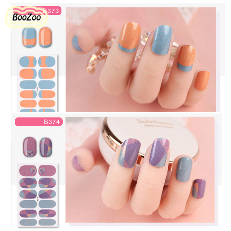 Blue Zoo 30 Colors For Choice Full Cover Nail Art Stickers Water Transfer Patch Foils Nail Wraps Sticker DIY Tip Nail Decoration 9 colors choice hot popular natural shells japan style 3d shell sticker nail art decoration tools yx152