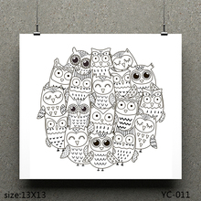 AZSG Big-eyed Owl/A group of owls Clear Stamps For Scrapbooking DIY Clip Art /Card Making Decoration Crafts