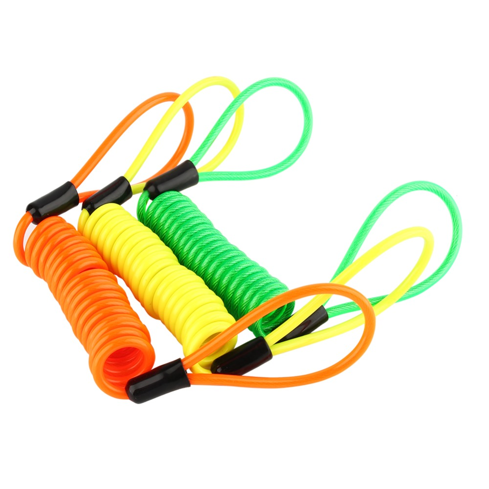3color for choose 1pcs otorcycle Scooter Disc Lock Security Reminder Cable Bike Motorbike Tool
