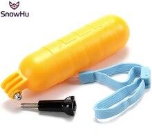 SnowHufor Go Pro accesorios, empuñadura flotante amarilla, monopié, trípode para Gopro Hero 9 8 7 6 5 para Xiaomi Yi para eken GP82
