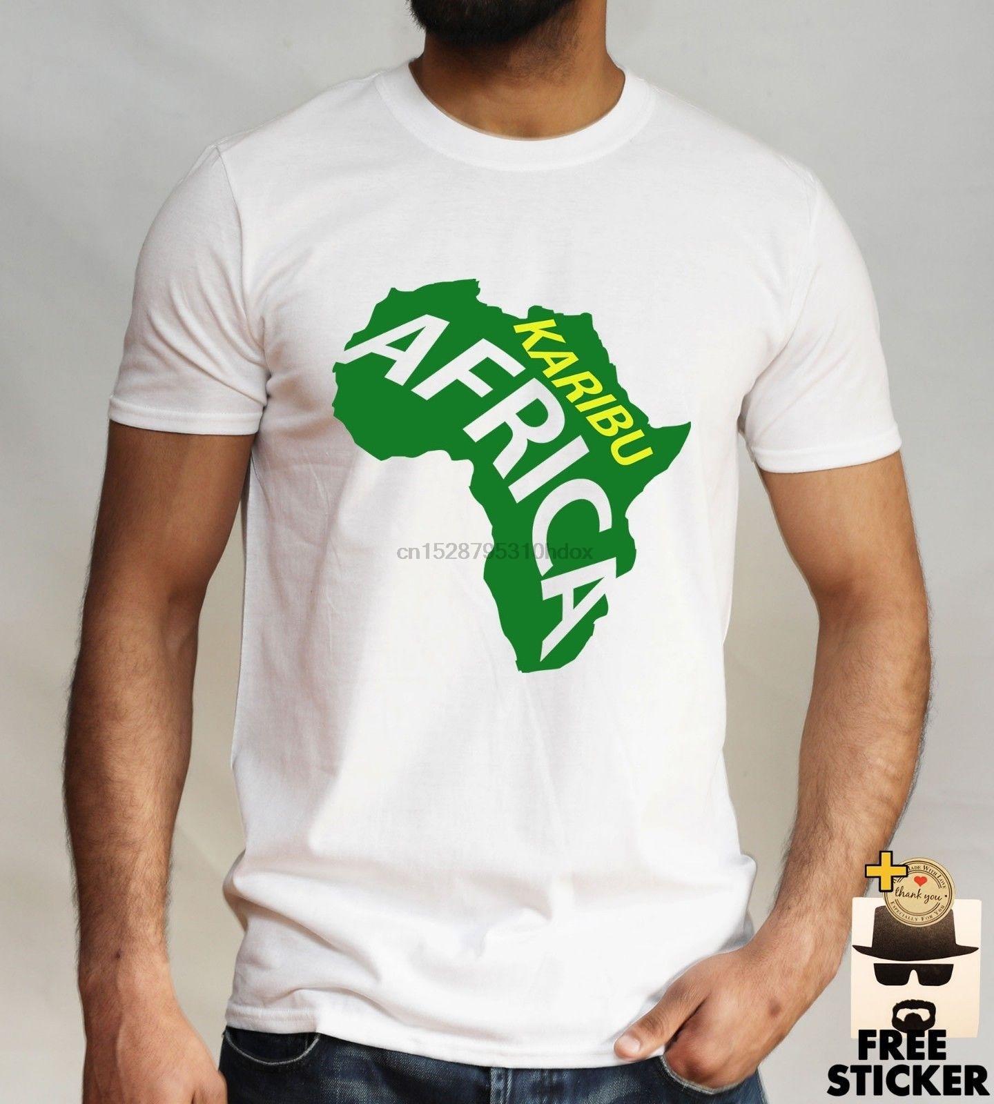 Karibu African T Shirt Tanzania Kenya Zanzibar Uganda Kilimanjaro Touristmen 2019 Summer Fashion Top Selling Designer T Shirt T Shirts Aliexpress