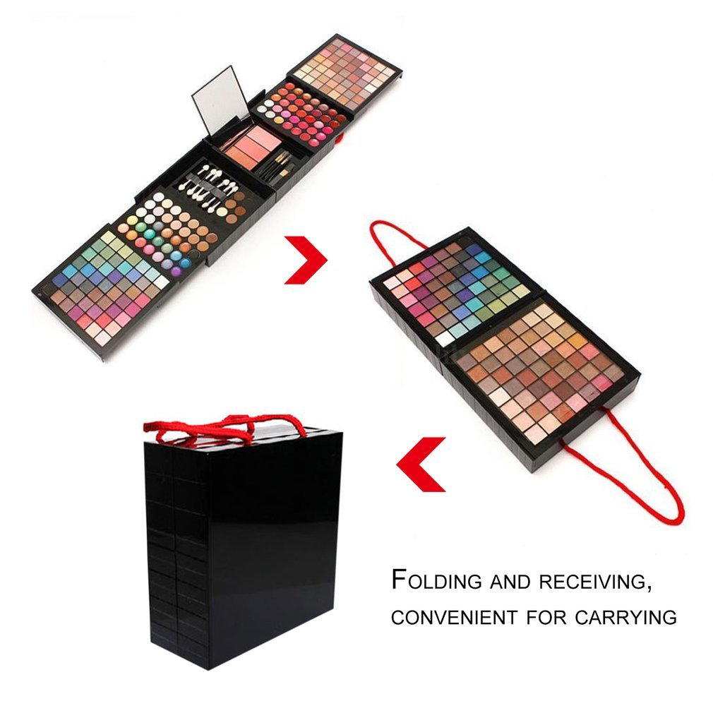 Professional 177 Full Colors Eyeshadow Palette Makeup Tool Set Matte Shimmer Eye Shadow Pigmented with Brushes & Mirror сумка дорожная solaris s5110 с изменяемым объемом 60 75 л цвет черный