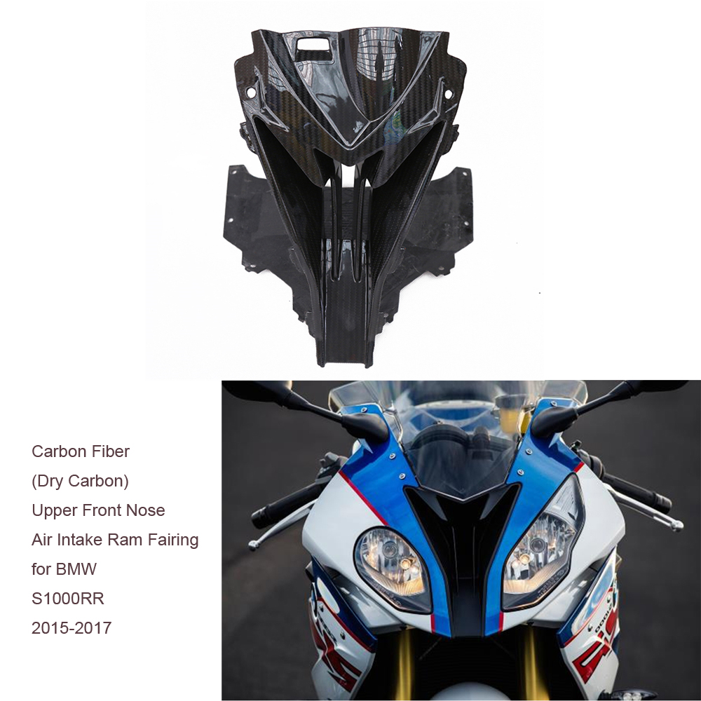Motorcycle Accessories Pre-Preg Twill Carbon Fiber (Dry Carbon) Upper Front Nose Air Intake Ram Fairing for BMW S1000RR 2015-17 ready for fce upper intermediate teacher s book