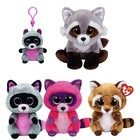 "Ty Beanie Boos 6"" 15cm Rocco the Raccoon Plush Regular Soft Big-eyed Stuffed Animal Collection Doll Toy"
