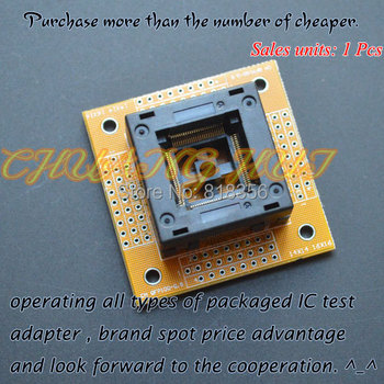 TQFP100 LQFP100 QFP100 test socket(With terminal board)  Pitch=0.5 Size=14x14mm/16x16mm free shipping tqfp100 fqfp100 lqfp100 burn in socket otq 100 0 5 09 pin pitch 0 5mm ic body size 14x14mm open top test adapter