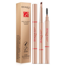 BIOAQUA Double Ended 3color Eyebrow Pencil Waterproof Long Lasting No Blooming Rotatable Triangle Eye Brow Tatoo Pen(China)