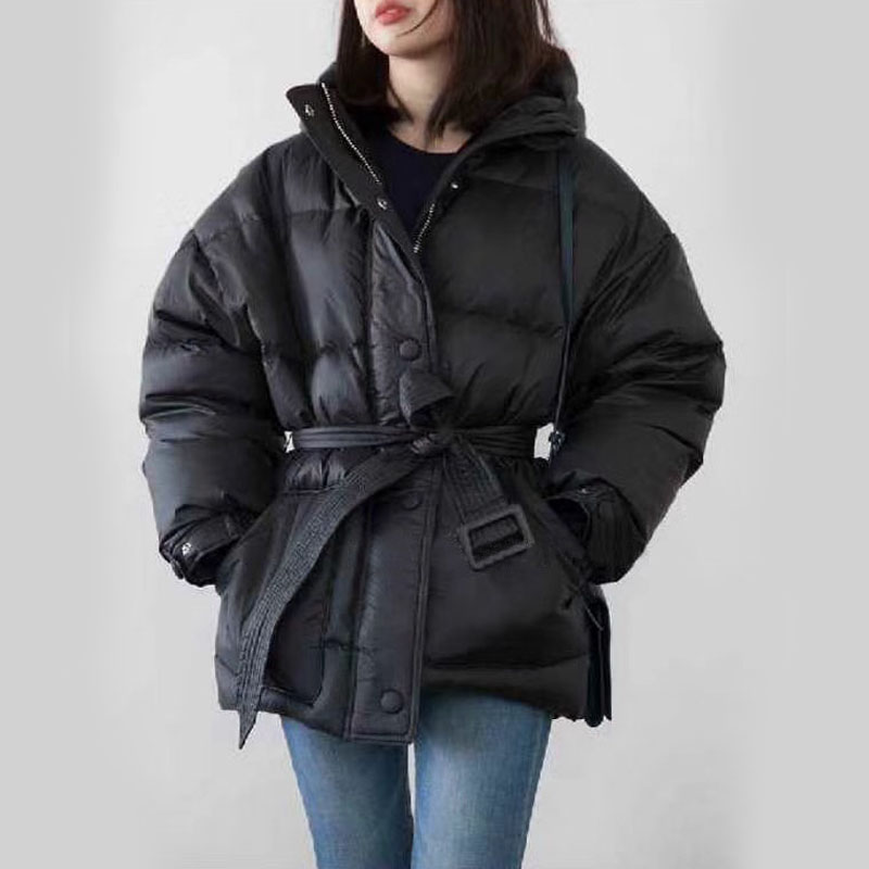 Winter Jacket Women Light   Down     Coat   Female 2018 Brand Women Winter Jacket White Duck   Down     Coats   Slim Parka With Belt Outerwear