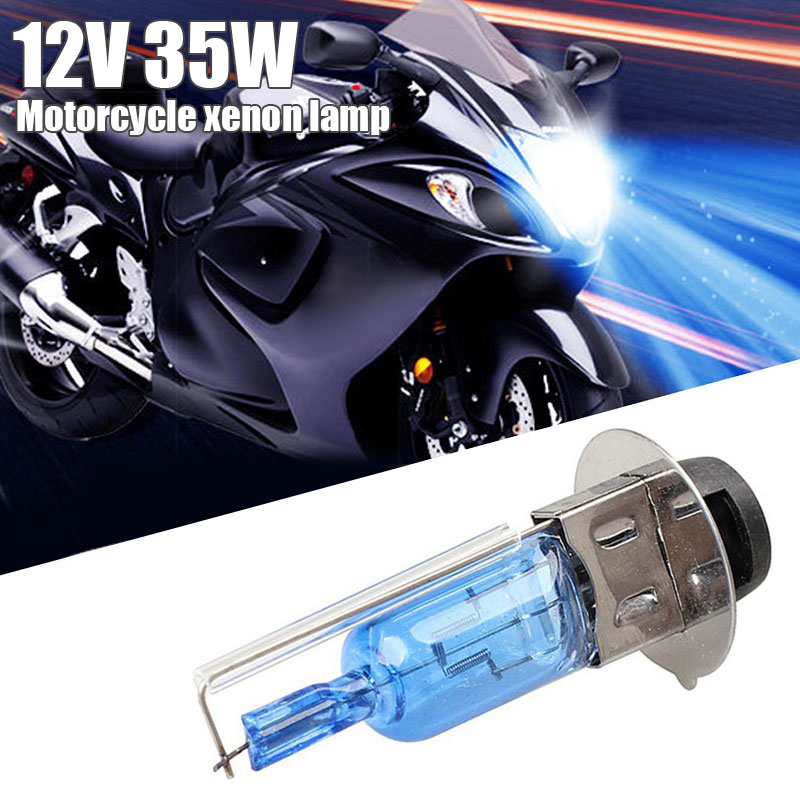Vehemo 35W Xenon Bulb Motorcycle Xenon Light Replacement Xenon Headlight For Quad Scooter Front Lamp ATV For Car Styling