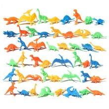 10 шт. объемные мини динозавры модель детские развивающие игрушки Моделирование животные завод прямые маленькие подарки студенческие подарки