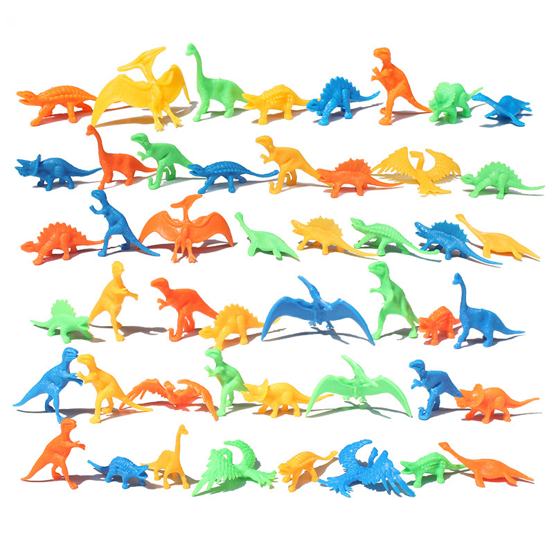 10Pcs Bulk Mini Dinosaur Model Children's Educational Toys Simulation Animals Factory Direct Small Gifts Wholesale Student Gifts
