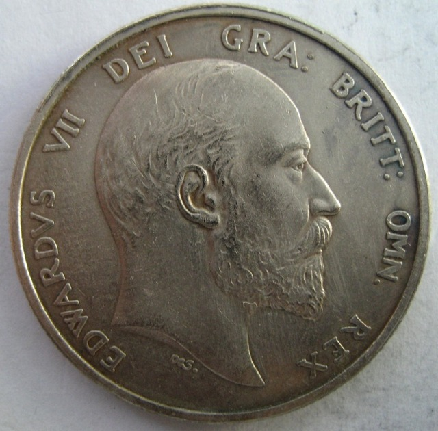 Inggris 1903 1/2 CROWN copy koin