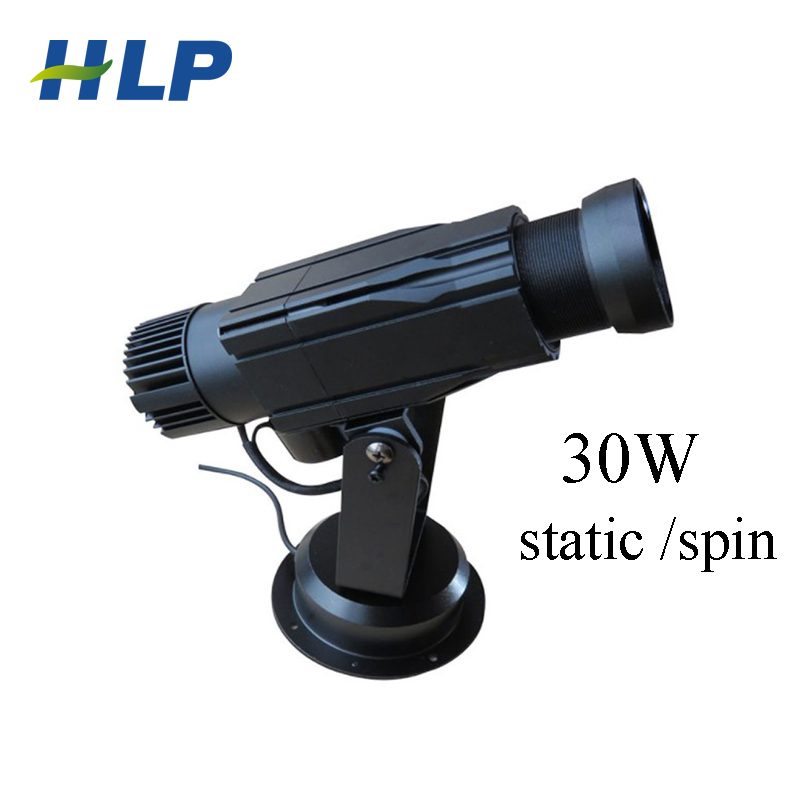 15w 30w Spin Rotating Led Gobo Logo Projector Light For Wedding Party Store DJ