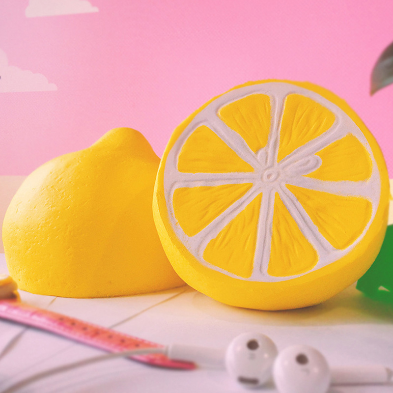 PU Squeeze Squishy antistress 11cm jumbo lemon orange Fruit Slow Rising Simulation Stress Stretch Kids anti-stress Toys ZJD