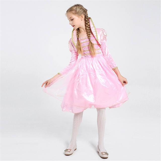 Girls Pink Fairy Dress Costume