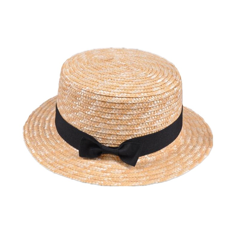3f929f4ac4e1b9 Cute Child Girls Straw hat Bowknot Sun Hat Kids Large Brim Beach Summer  Boater Beach Ribbon