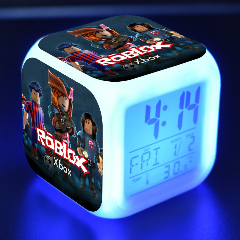 Back To Search Resultstoys & Hobbies Kids School Dormitory Clock 7 Colors Game Roblox Alarm Clock With Led Light Digital Night Electronic Action Figure Anime Toys