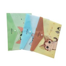 24pcs/lot Cute Cheese Cat PVC A4 File Folder Document Filing Bag Stationery Bag School Office Supplies недорого