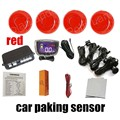 a set 12V 9 colors for option Car LCD Parking Sensor Kit 4 Sensors LCD Display Reverse Backup Radar Monitor buzzer System