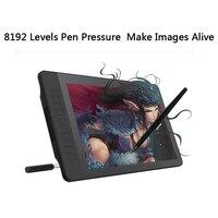 Gaomon pd1560 15.6 인치 ips hd 아트 페인팅 그래픽 태블릿 화면 8192 레벨 압력 펜 태블릿 디스플레이 드로잉 장갑