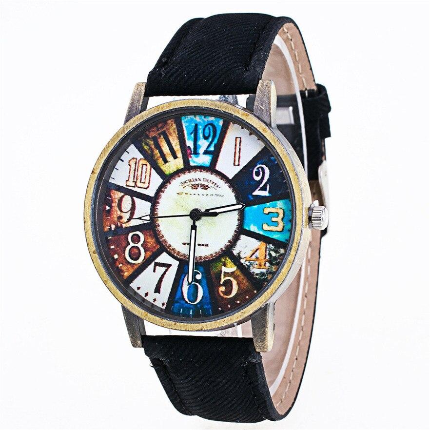 New Arrive Fashion Harajuku Graffiti Pattern Leather Band Analog Quartz Wrist Watches For Clock Relogio Feminino dropship