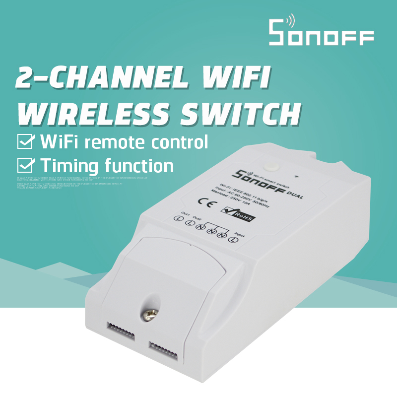 New Sonoff Itead Dual Wifi Wireless Smart Swtich Module