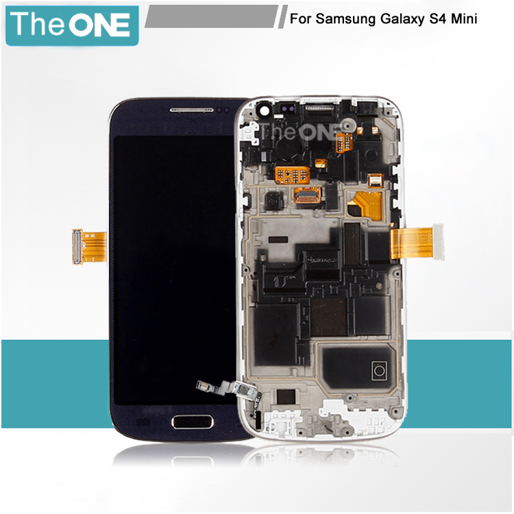 Free DHL Lcd For Samsung Galaxy s4 mini i9190 i9195 Lcd display touch screen digitizer Bezel Frame Assembly replacement part lcd screen assembly for apple iphone 4 4g lcd display touch screen digitizer pantalla with frame bezel replacement black white