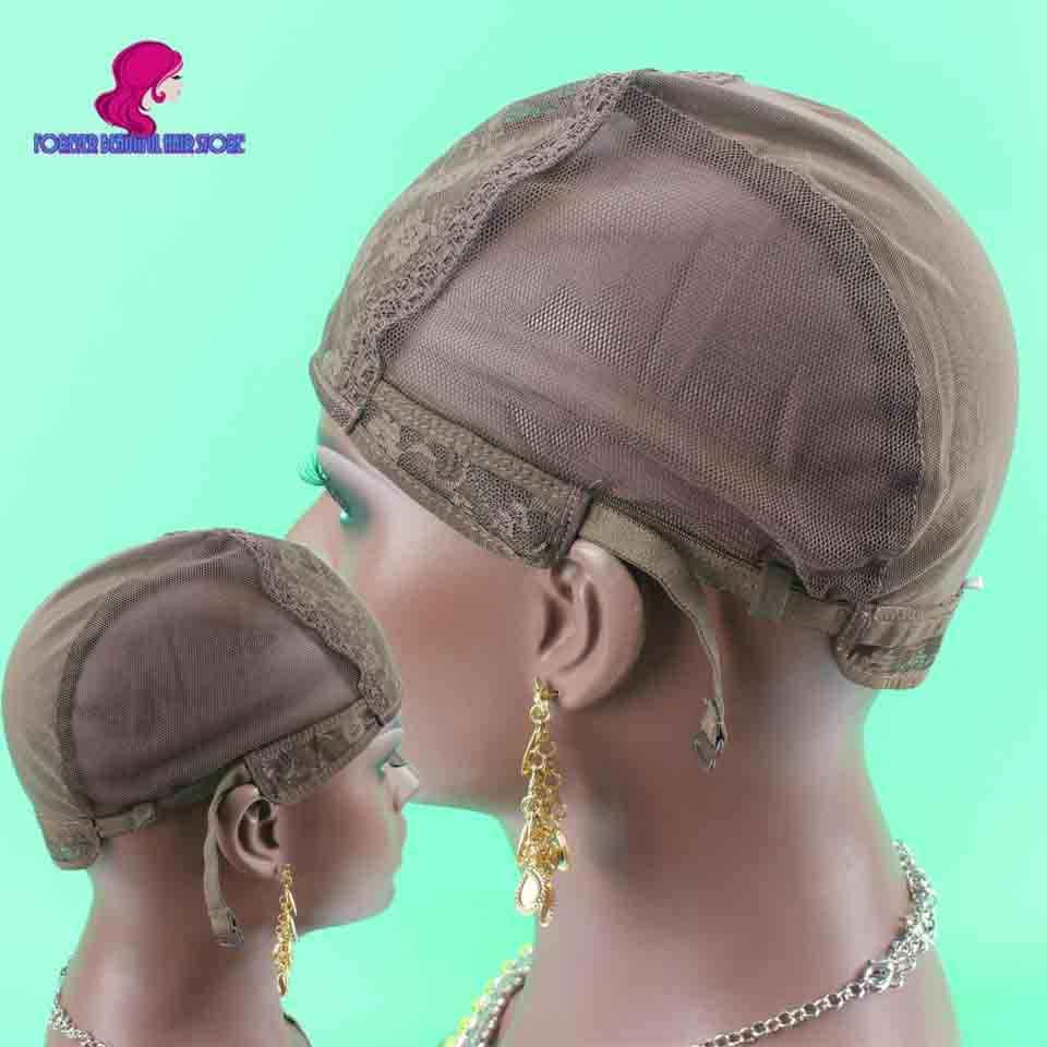 43e6c30bf9d Top Quality 5 pcs lot Jewish Glueless Wig Caps For Making Wigs Medium Size  Dark
