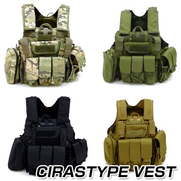 цена на Molle CIRAS Tactical Vest Airsoft Paintball Combat Vest W/Magazine Pouch+Utility Bag Releasable Armor Carrier Vest ACU/Woodland