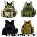 Molle CIRAS Tactical Vest Airsoft Paintball Combat Vest W/Magazine Pouch+Utility Bag Releasable Armor Carrier Vest ACU/Woodland