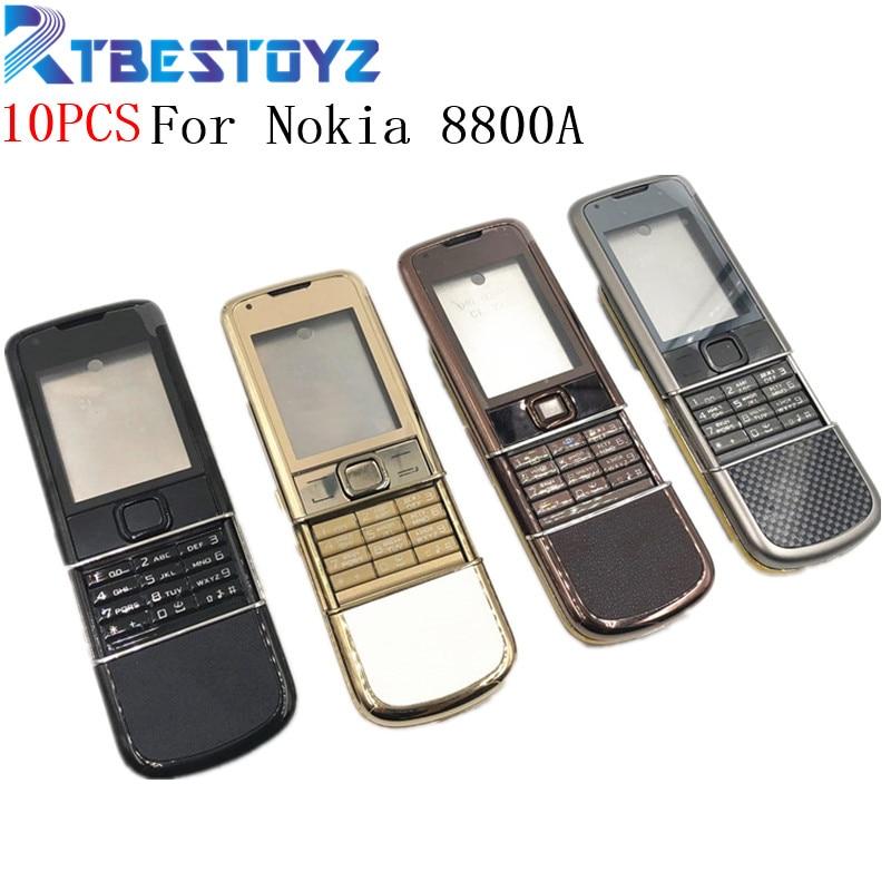 RTBESTOYZ 10 шт./лот задняя 8800A полный корпус для Nokia 8800 Arte 8800a Передняя средняя рамка батарея задняя крышка чехол