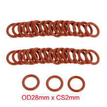 OD28mm*CS2mm red silicone rubber seal o ring o-ring