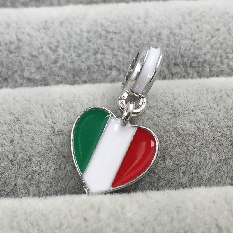 charm pandora drapeau italie