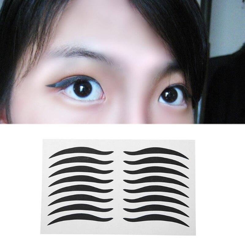 160pcs 10 sheet Eyelid Tools Sexy Cat Style Eyes Sticker Black Eyeliner  Tape Beauty Eyeliner Sticker