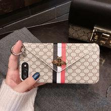 Роскошные классические 3D Металл пчела чехол для iPhone X 6 6 S 7 8 плюс XS Max Xr модный держатель карты карман водонепроницаемый чехол для телефона