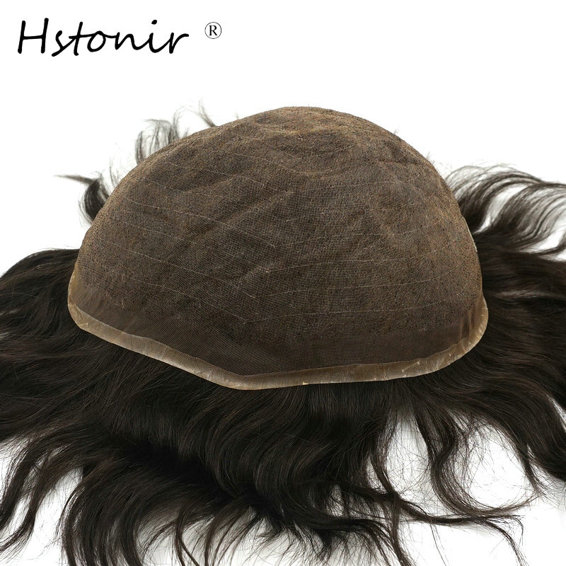 Constructive Hstonir Indian Remy Hair Replacement Men Toupee Human Lace Short Hair Wigs Durable For Men H015 Vivid And Great In Style