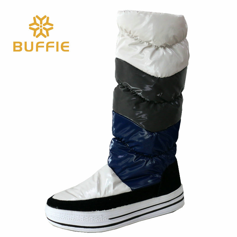women knee high boots 2016 new winter thigh shoe platform warm fur lining long bootleg fashion lady girl snow boots women boots