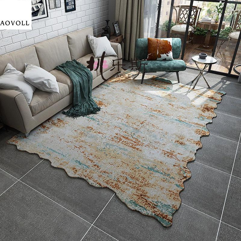 AOVOLL nouveaux tapis de Style américain doux pour salon chambre enfant chambre grands tapis décorer maison tapis porte tapis tapis
