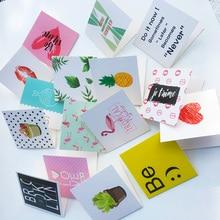 10 шт./компл. мультфильм день рождения поздравительных открытках пустой год поздравительная открытка креативный мини-карты на год и Рождество