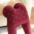 woman tights  warm cotton pantyhose girls clothes tight lady tights with pattern  Autumn Winter Soft  Stovepipe Tights