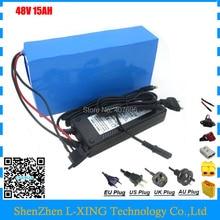 Аккумуляторная батарея 500 Вт 48 В 15AH 750 Вт 48 В 15AH ebike e скутер литий-ионный аккумулятор 20A BMS 2A зарядное устройство Бесплатная таможенная плата