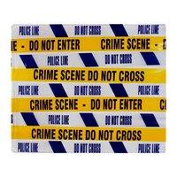 Custom Creative Design Blanket Crime Scene Tape Soft Fleece Throw Blanket for Sofa Bed Car Couch