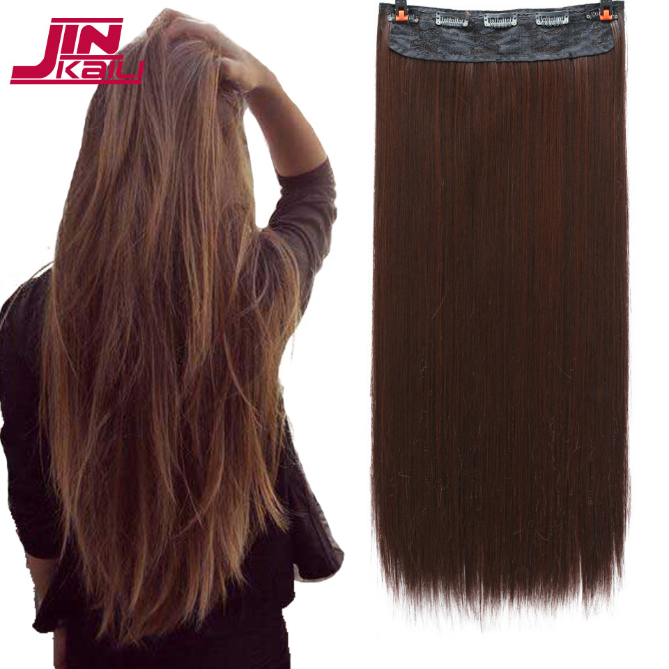 JINKAILI WIG Long Curly Hair One Piece3 Sizes 2 Clip Extensions Heat Resistant for Women Hair Extensions
