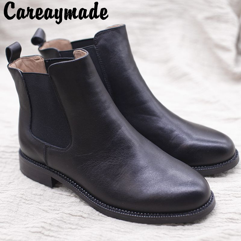 Careaymade Farmers autumn new flat heeled women s shoes literary and artistic retro leisure fashion boots