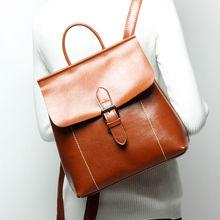 Maihui Ladies женские Натуральная кожа Школьные сумки для подростков Girls NEW Путешествия Женский подростков Vintage школьный рюкзак ноутбук сумка