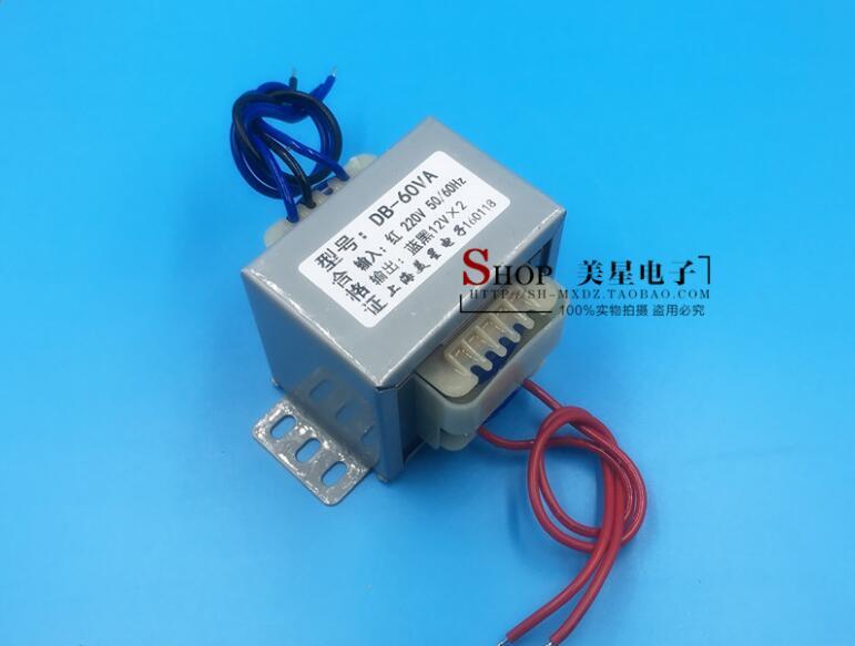 12V-0-12V 2.5A Transformer 60VA 220V input EI66 Transformer power supply transformer 22v 0 22v 1 35a transformer 220v input 60va ei66 40 multimedia active speaker constant voltage power amplifier transformer