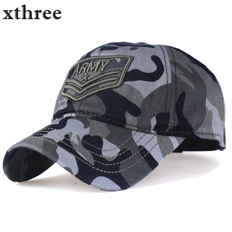 Xthree camouflage baseball cap Letter army snapback Hat for men Cap gorra casquette dad hat Wholesale xthree fashion baseball cap summer snapback hat letter embroidery casquette hat for men women cap wholesale
