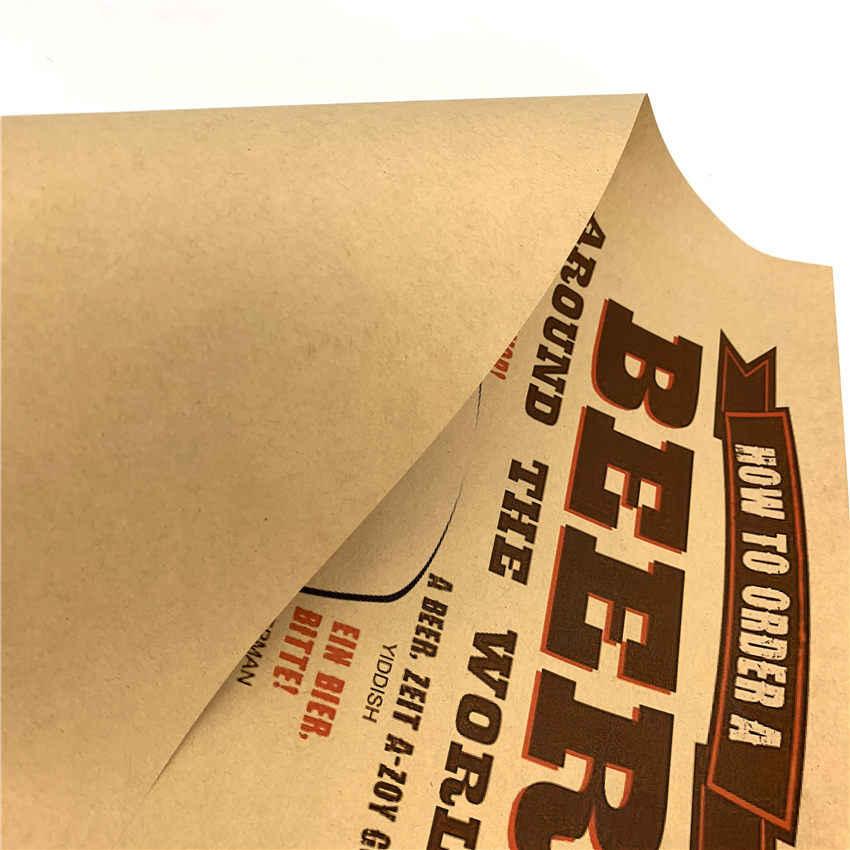 Bier Vintage Poster Papier Schilderen Muursticker Cafe Bar Woonkamer Pub Bar Home Decor Print Foto 42X30cm GGB080