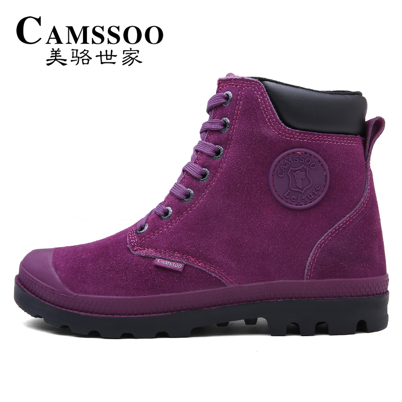 CAMSSOO Women's Winter Outdoor Trekking Hiking Boots Shoes Sneakers For Women Warm Climbing Mountain Boots Shoes Woman EUR 36-40 yin qi shi man winter outdoor shoes hiking camping trip high top hiking boots cow leather durable female plush warm outdoor boot