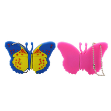Lovely Butterfly Model USB Flash Drive USB 2.0 Cute Keychain Memory Stick U Diskl PenDrive 4GB 8GB 16GB 32GB Free Shipping