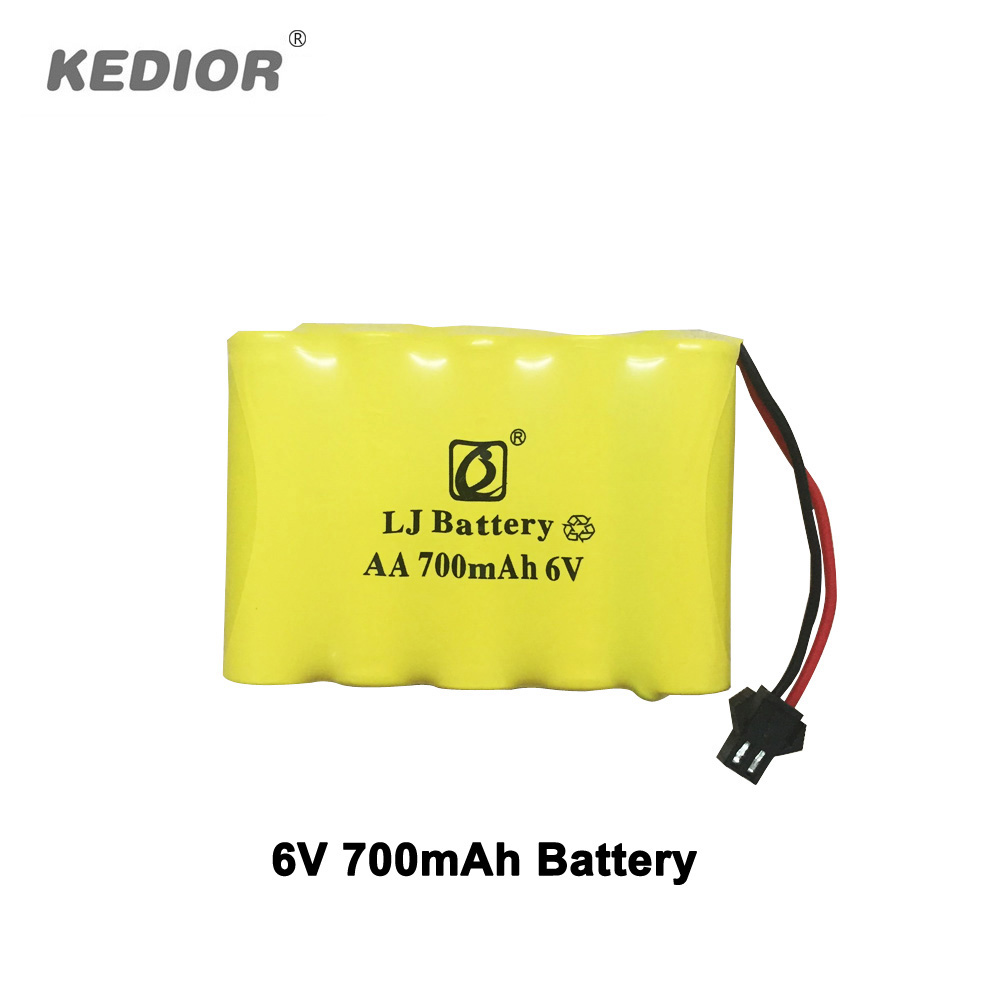RC Monster 6V 700mAh battery Remote Control Cars accessories for Kedior 1:18 high speed rc car parts